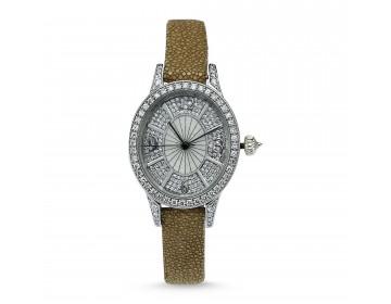 Pırlantalı Oval Altın Bayan Saati
